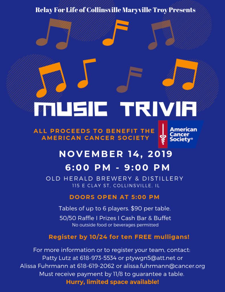 music trivia night flyer